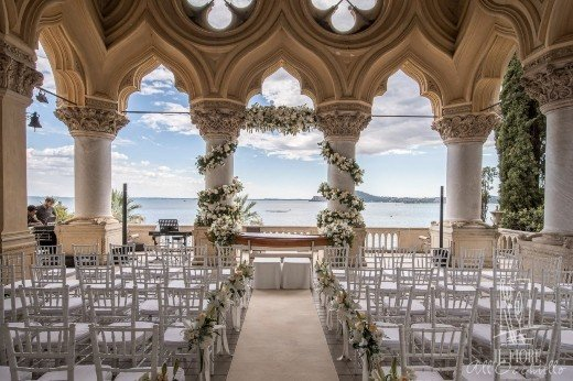 Ceremony set up at Private Island