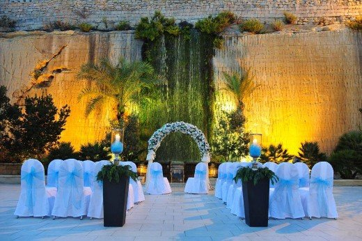 Unique Waterfall Wedding
